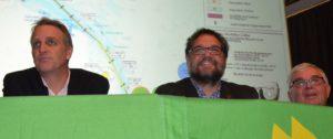 Dank an Joachim Krah (re.), Vorsitzender des GRÜNEN Ortsverbandes Krummhörn, der die Termine mit Stefan (li.) und mir (Mitte) organisiert hat.