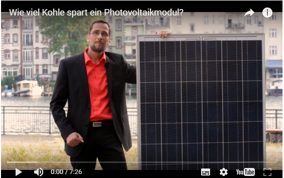 "Video: ""Wieviel Kohle spart ein Photovoltaikmodul?"""