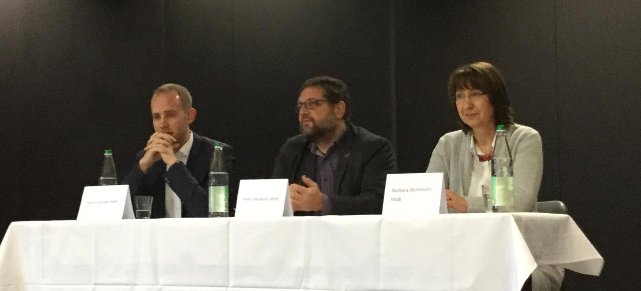 V.r.n.l.: Barabara Woltmann (CDU), moi (GRÜNE) und Dennis Rohde (SPD)