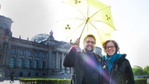 Meine Kollegin, Julia Verlinden MdB, Sprecherin für Energiepolitik und Spitzenkandidatin der niedersächsischen GRÜNEN zur Bundestagswahl und ich