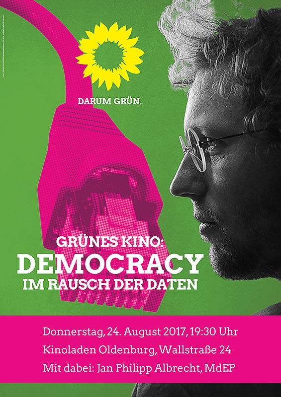 Democracy - im Rausch der Daten, mit Jan Philipp Albrecht, 24.8., 19.30h, KinOLaden, Wallstraße 24, OLdenburg
