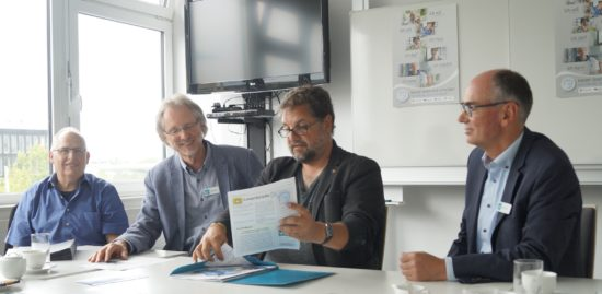 (v.l.n.r.) Ernst Lorenzen, Achim Scholz, Peter Meiwald, Andreas Gögel | Foto: Lea Feline Müller